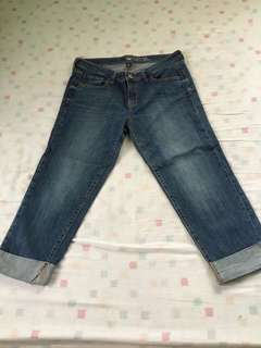 Slighlty used banana rep straight crop jeans size 30