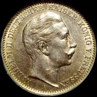 🚚 Germany Gold 20 Marks Prussia Almost Uncirculated (AU) 1906A