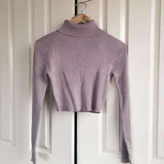 Miss Guided Pink Turtle Neck Top
