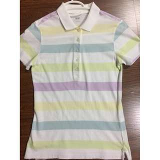 Uniqlo womens stripes polo shirt S