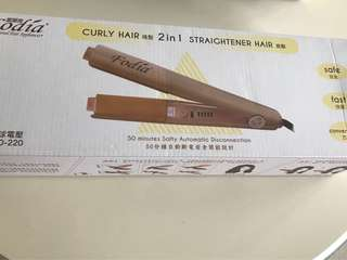 Hair straightener and Curler 2 in 1
