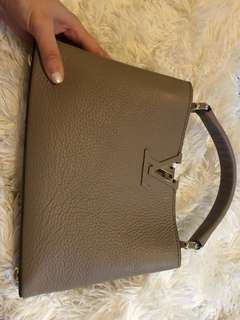 LV beige handbag