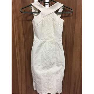 Ever New womens white sexy dress size 0 BNEW
