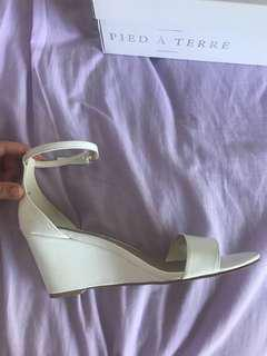 White wedge heel