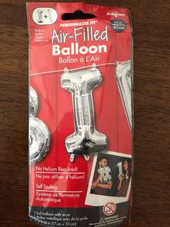 'I' Alphabet/Letter Foil balloon