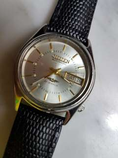 Vintage 80's Citizen Auto Day/Date 21J Men Wrist Watch(NOS).