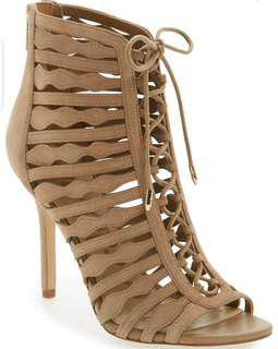 Sam Edelman suede caged sandal 6.5