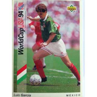 Luis Garcia (Mexico) - Soccer Football Card #58 - 1993 Upper Deck World Cup USA '94 Preview Contenders