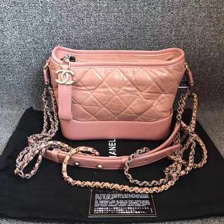 Chanel gabrielle hobo bag絕版粉色