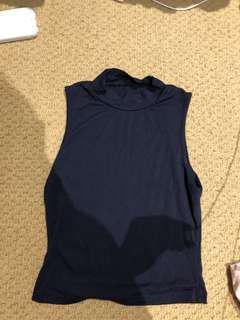 Navy turtleneck sleeveless