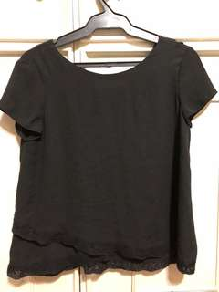 Zara blouse with back detail