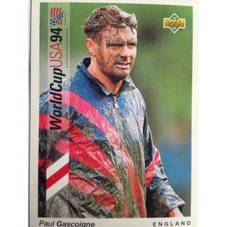 Paul Gascoigne (England) - Soccer Football Card #56 - 1993 Upper Deck World Cup USA '94 Preview Contenders