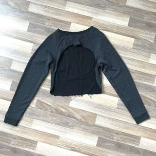 Women's Cropped Distressed Sweater