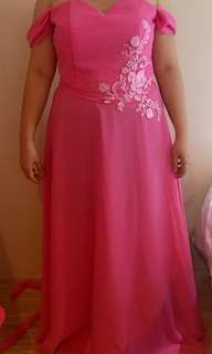 Long gown pink