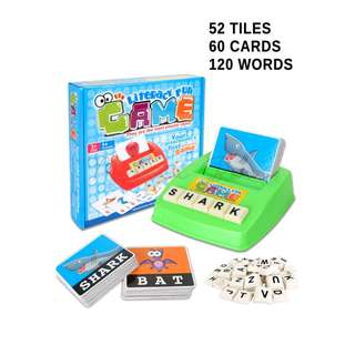 Children's Educational Picture Literacy Spelling Tile Game Toy