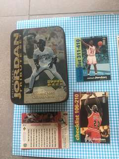 Michael Jordan Original Upper Deck Collectors Card & Tin Box