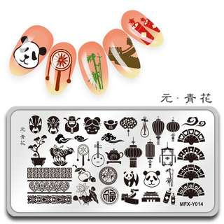 1pc Nail Stamping Plates Spring wreath Pattern Image Stamping Printing Nail Art Templates DIY Manicure Stencils Stamp Tools