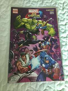 Limited edition  Marvel vs Capcom Infinite Comic Book Custom Edition #1 GameStop Exclusive. #hariraya35