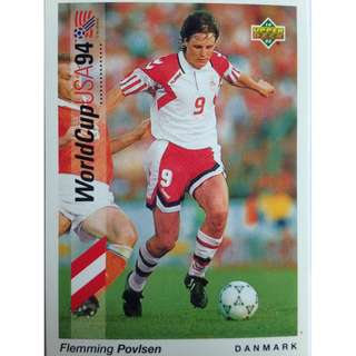 Flemming Povlsen (Denmark) - Soccer Football Card #54 - 1993 Upper Deck World Cup USA '94 Preview Contenders