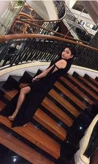 Black formal long dress