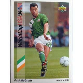 Paul McGrath (Ireland) - Soccer Football Card #53 - 1993 Upper Deck World Cup USA '94 Preview Contenders