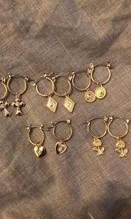 Gold hoop earrings!