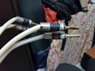 QED XT400 speaker cables 2 meters pair