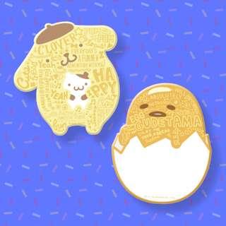 【現貨】台灣代購 全家 FamilyMart Sanrio 微笑好生活 布丁狗 布甸狗 蛋黃哥 珪藻土吸水杯墊