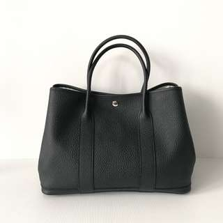 Authentic Hermes Garden Party 36 Black