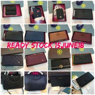 Ready Stock Original Tory Burch Coach Micheal Kors Kate Spade women men Wallet purse pouch coin bag