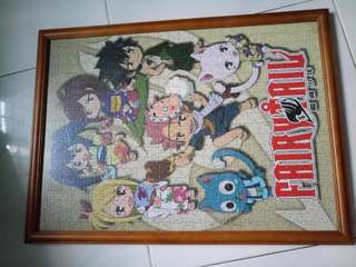 Fairy tail puzzle including frame done