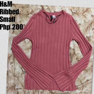 H&M Ribbed Top Longsleeves
