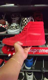 Red October Van Skate High (all red)