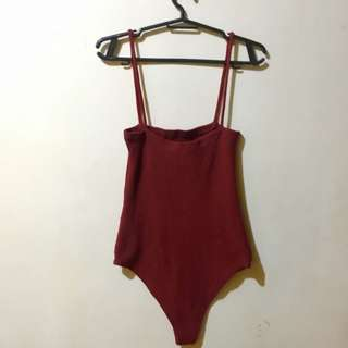 Maroon One Piece Swimsuit