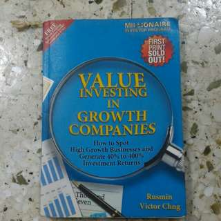 value investing in growth company book