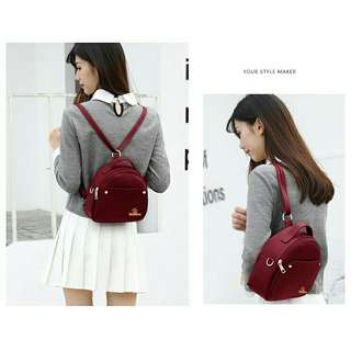 / 3 way korean backpack bag