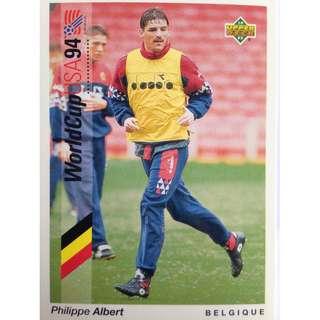 Philippe Albert (Belgium) - Soccer Football Card #50 - 1993 Upper Deck World Cup USA '94 Preview Contenders