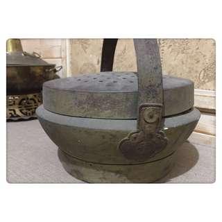 🚚 老物件 銅製 雙囍煤炭爐