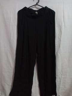 H-waist Black cullotes