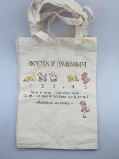 動物 布袋 文藝卡通休閒手提棉布袋學生單肩超市購物袋簡約百搭手提環保袋