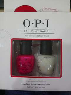 Brand new OPI Nail Lacquer in Strawberry Magarita and Alpine Snow