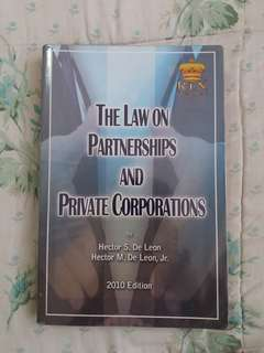 The Law on Partnerships & Private Corporations