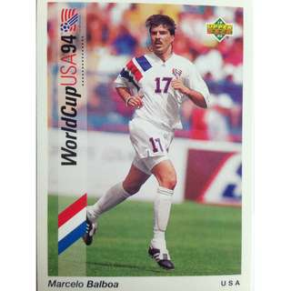 Marcelo Balboa (USA) - Soccer Football Card #47 - 1993 Upper Deck World Cup USA '94 Preview Contenders