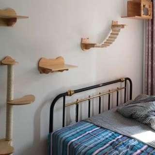 (New!) wood wall climbers ladder house plank pole