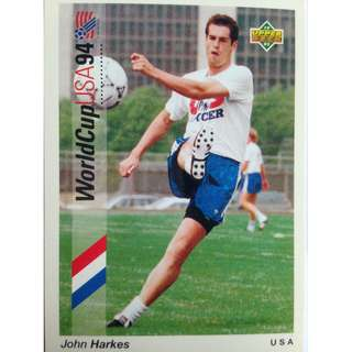 John Harkes (USA) - Soccer Football Card #46 - 1993 Upper Deck World Cup USA '94 Preview Contenders