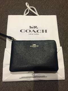 NEW COACH black and gold wristlet!