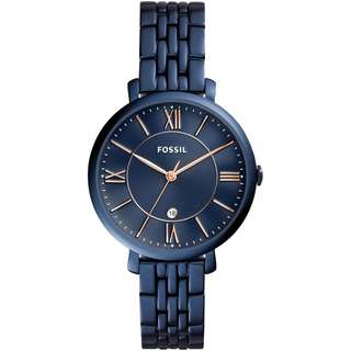 BN - 100% Authentic Fossil ES4094 Women's Watch (Navy Blue)