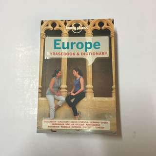 Europe Phrasebook and Dictionary by Lonely Planet