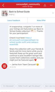 SNS Featured! Thanks Carousell!