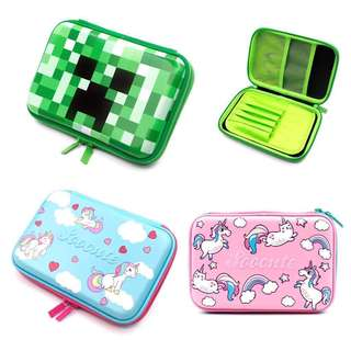 NEW Hard Cover Pencil Box Minecraft Unicorn Designs